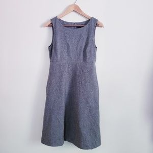 J crew wool sleeveless dress with pockets size 6